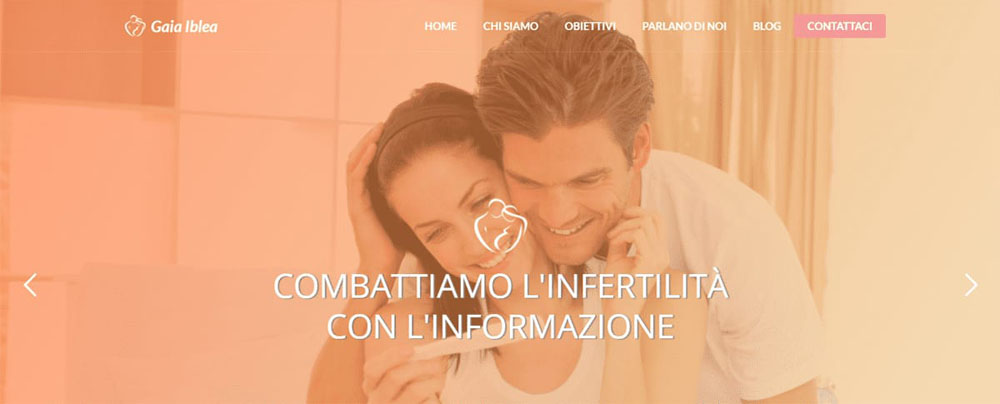 Gaia Iblea, sito web, homepage screenshot
