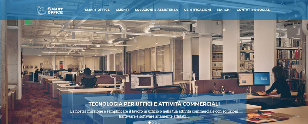 Smart Office Ragusa, sito web, homepage screenshot